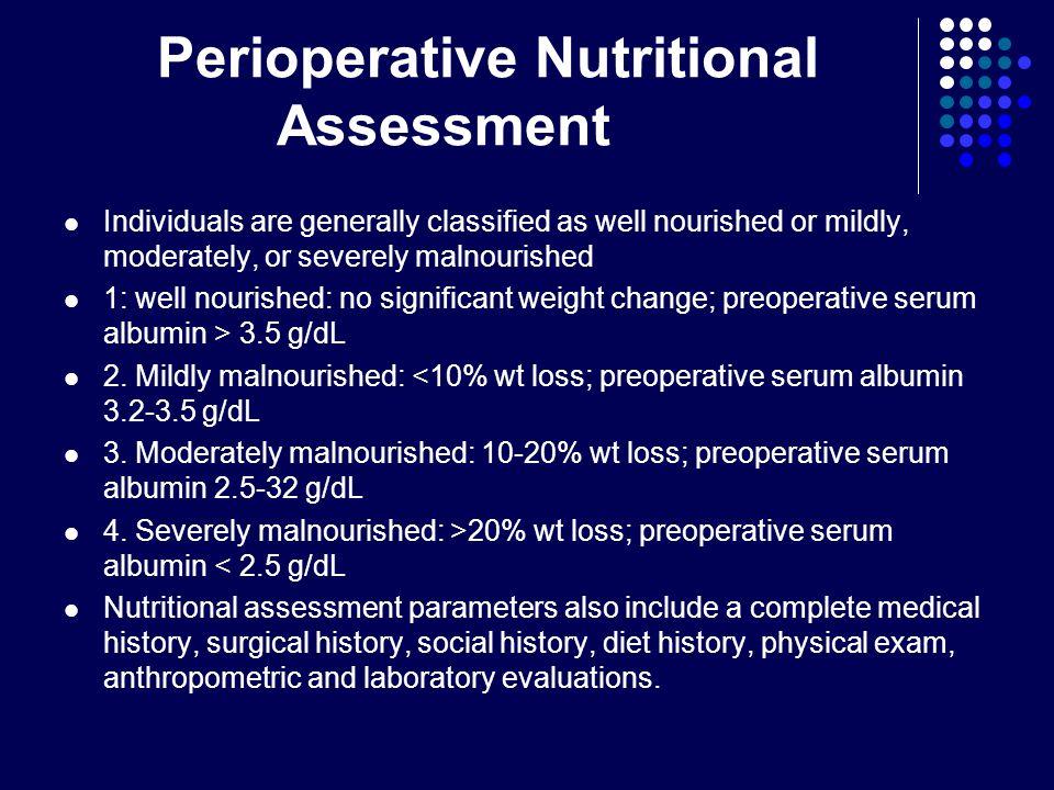 Perioperative Nutritional Assessment
