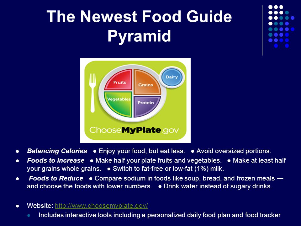The Newest Food Guide Pyramid