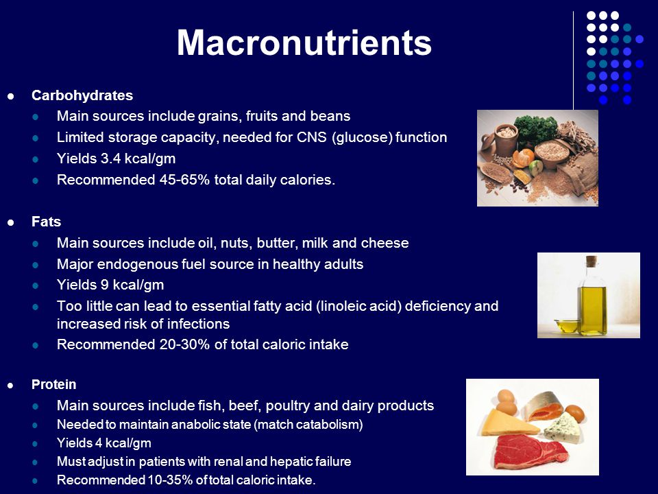 Macronutrients Carbohydrates