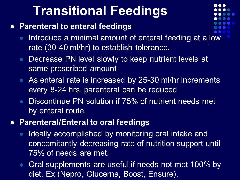 Transitional Feedings