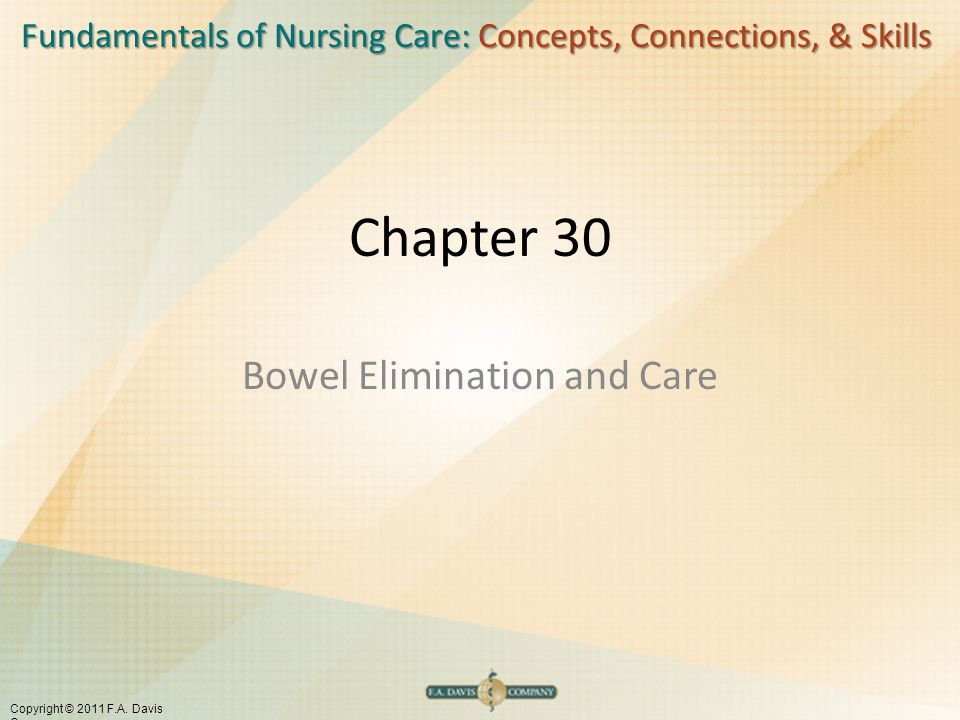 Bowel Elimination and Care