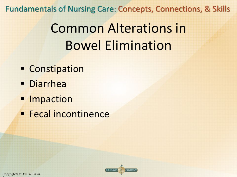 Common Alterations in Bowel Elimination