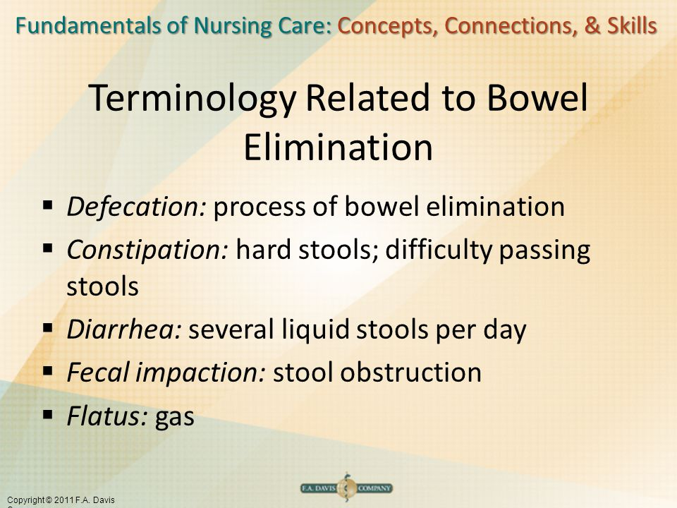 Terminology Related to Bowel Elimination