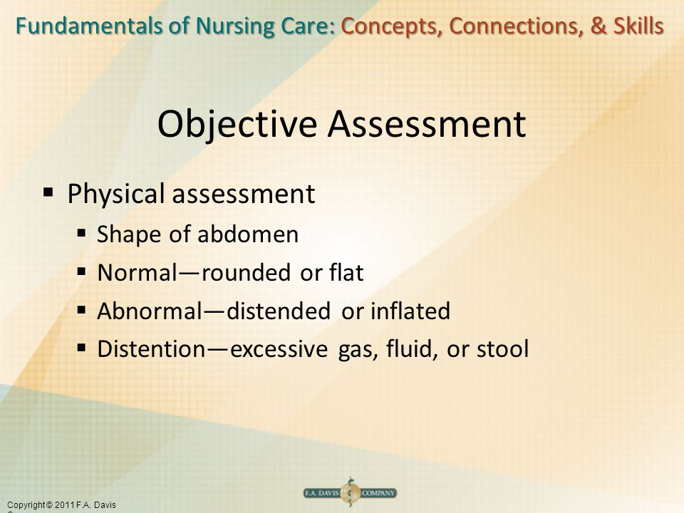 Objective Assessment Physical assessment Shape of abdomen