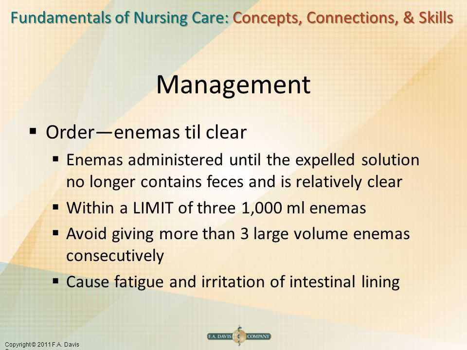Management Order—enemas til clear