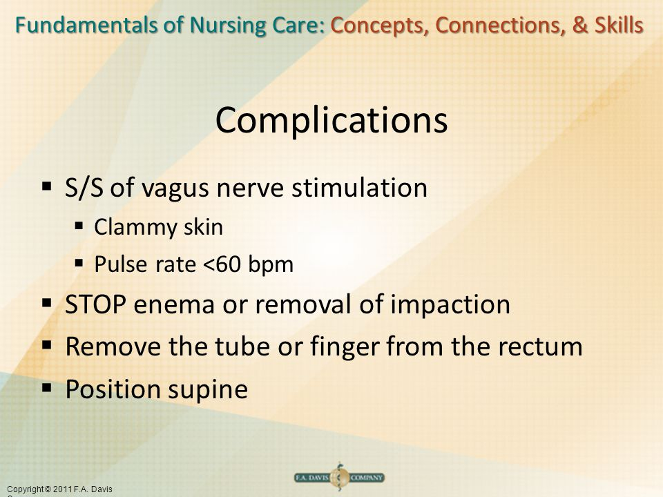 Complications S/S of vagus nerve stimulation