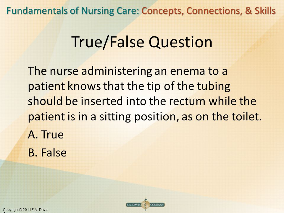 True/False Question