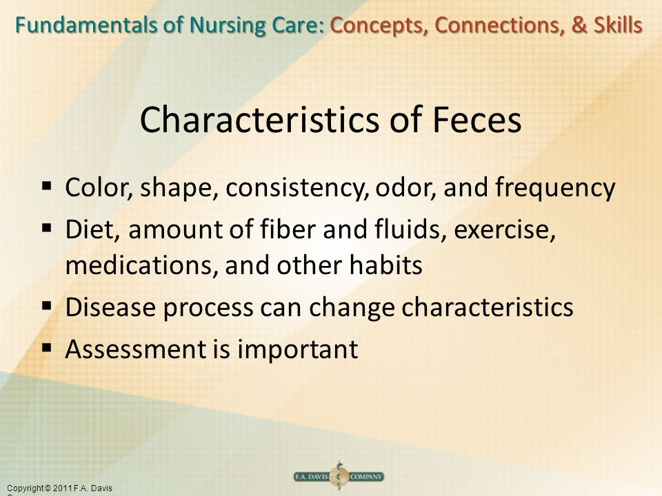 Characteristics of Feces