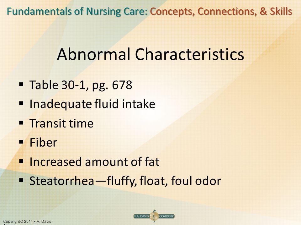 Abnormal Characteristics