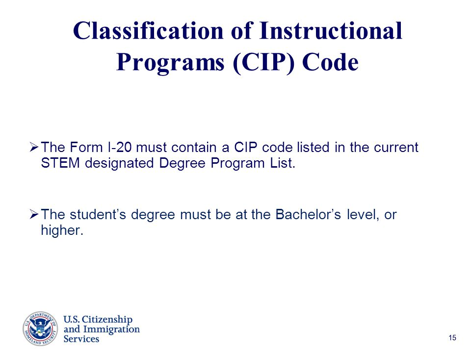 Classification of Instructional Programs (CIP) Code
