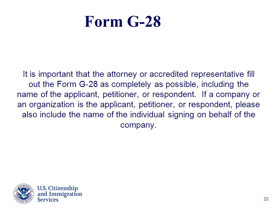 Form G-28