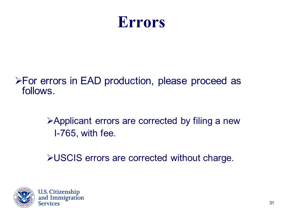 Errors For errors in EAD production, please proceed as follows.