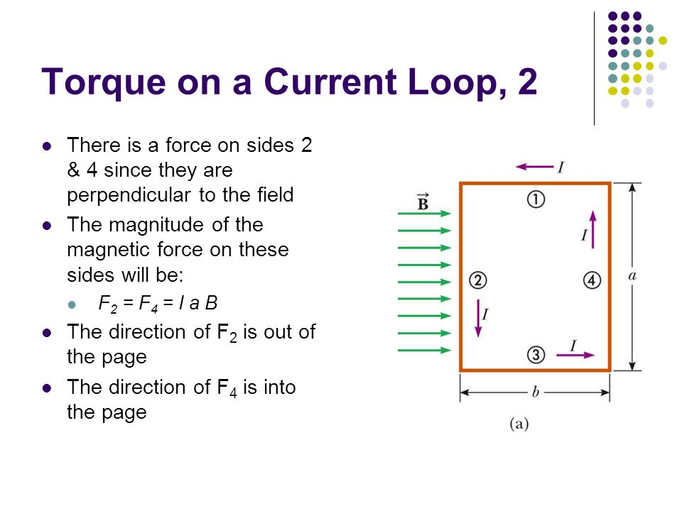 Torque on a Current Loop, 2