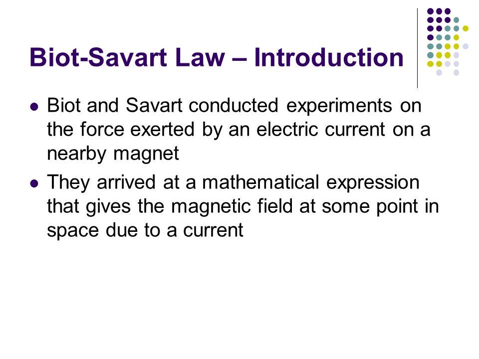 Biot-Savart Law – Introduction