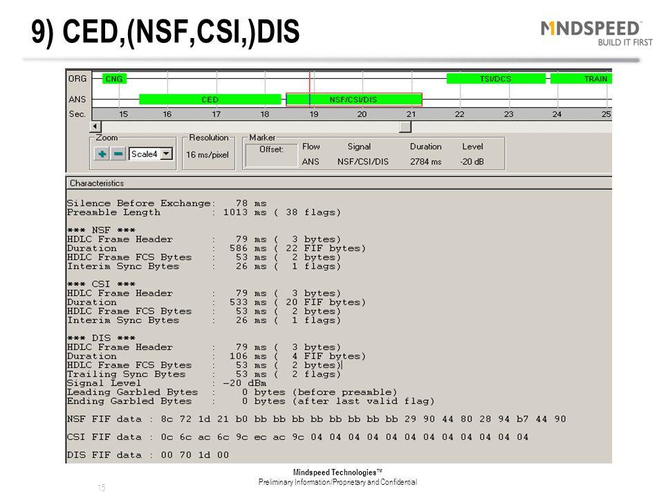 9) CED,(NSF,CSI,)DIS
