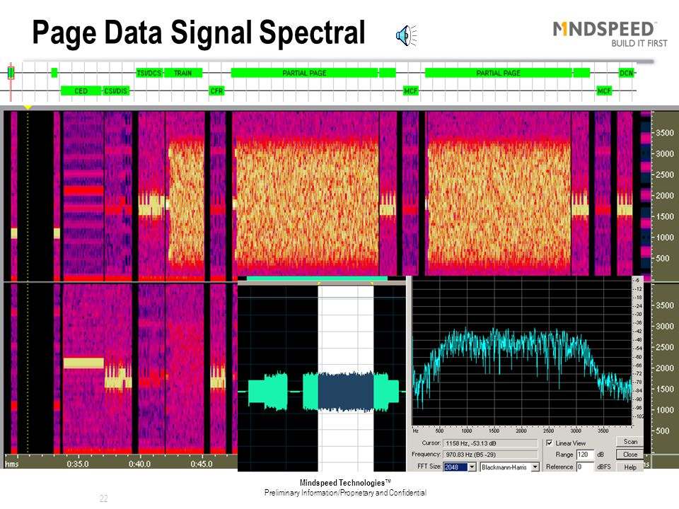 Page Data Signal Spectral