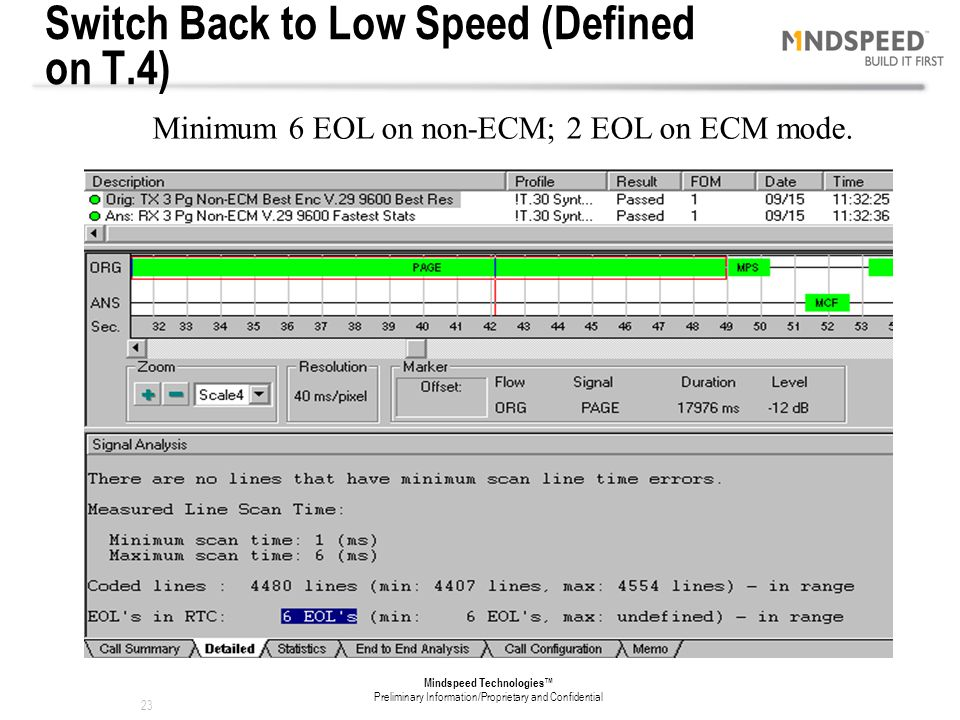Switch Back to Low Speed (Defined on T.4)