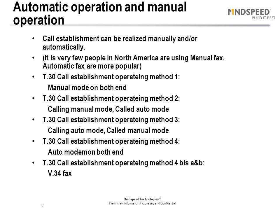 Automatic operation and manual operation