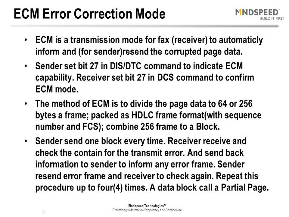 ECM Error Correction Mode