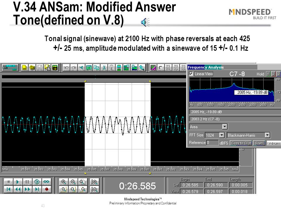 V.34 ANSam: Modified Answer Tone(defined on V.8)