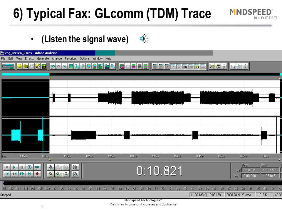6) Typical Fax: GLcomm (TDM) Trace