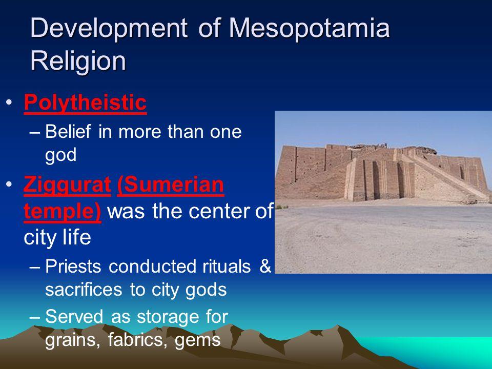 Development of Mesopotamia Religion