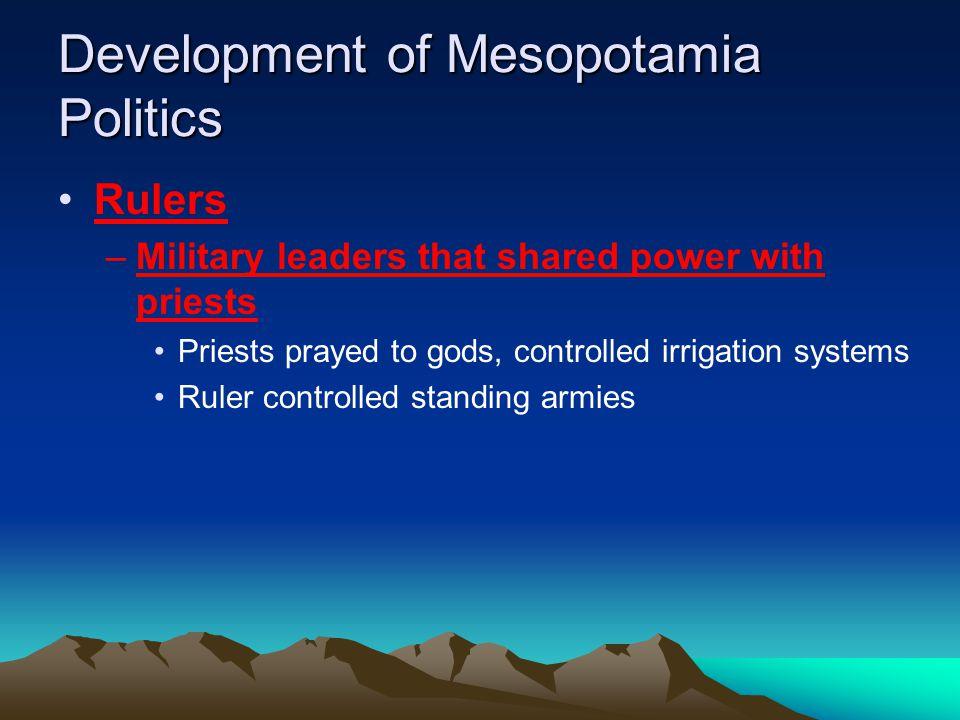Development of Mesopotamia Politics
