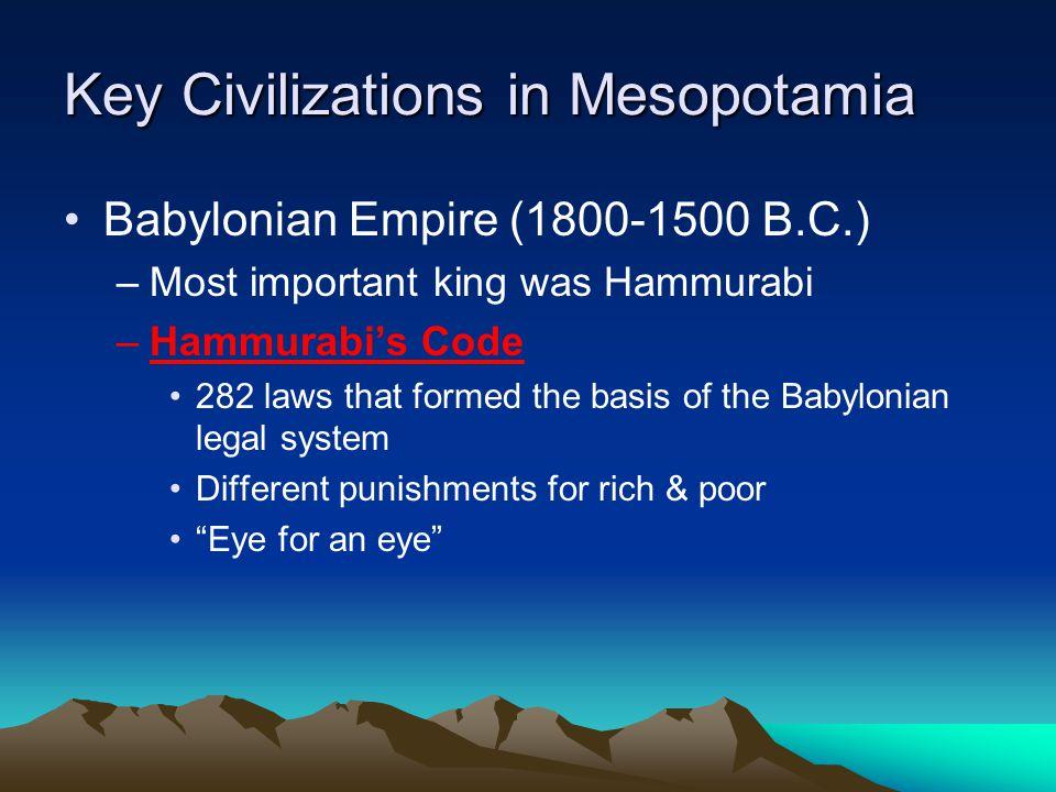 Key Civilizations in Mesopotamia