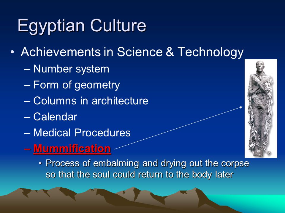 Egyptian Culture Achievements in Science & Technology Number system