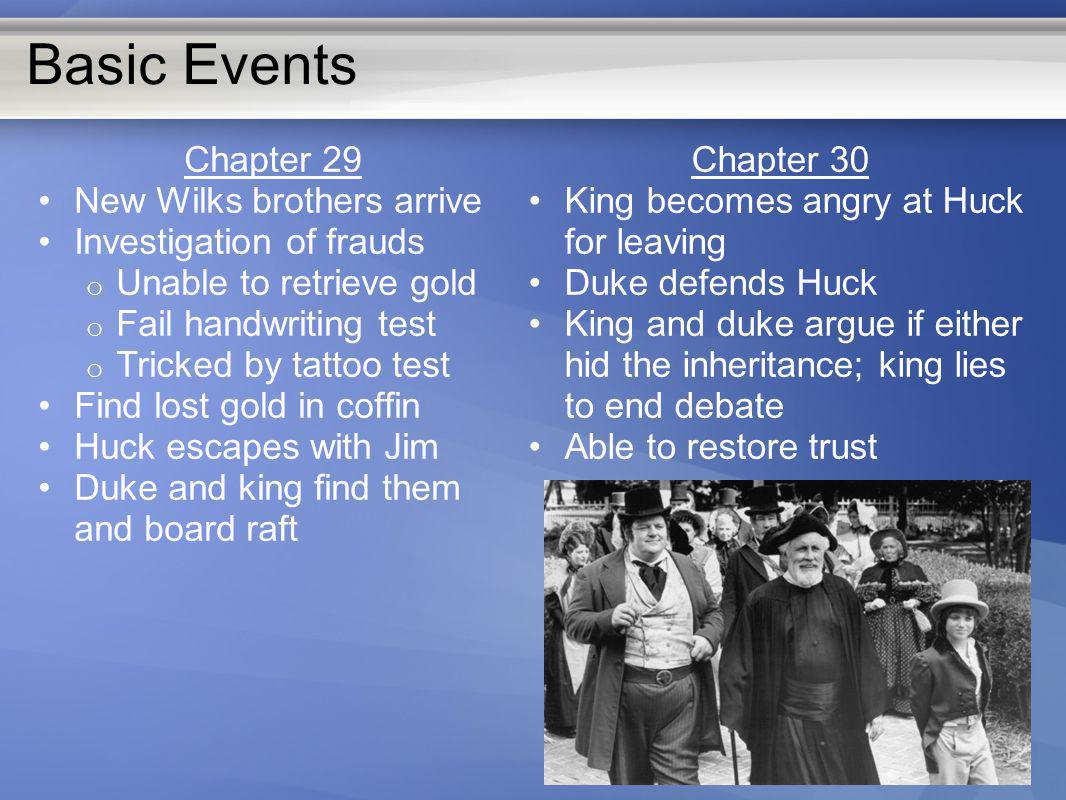 Basic Events Chapter 29 New Wilks brothers arrive