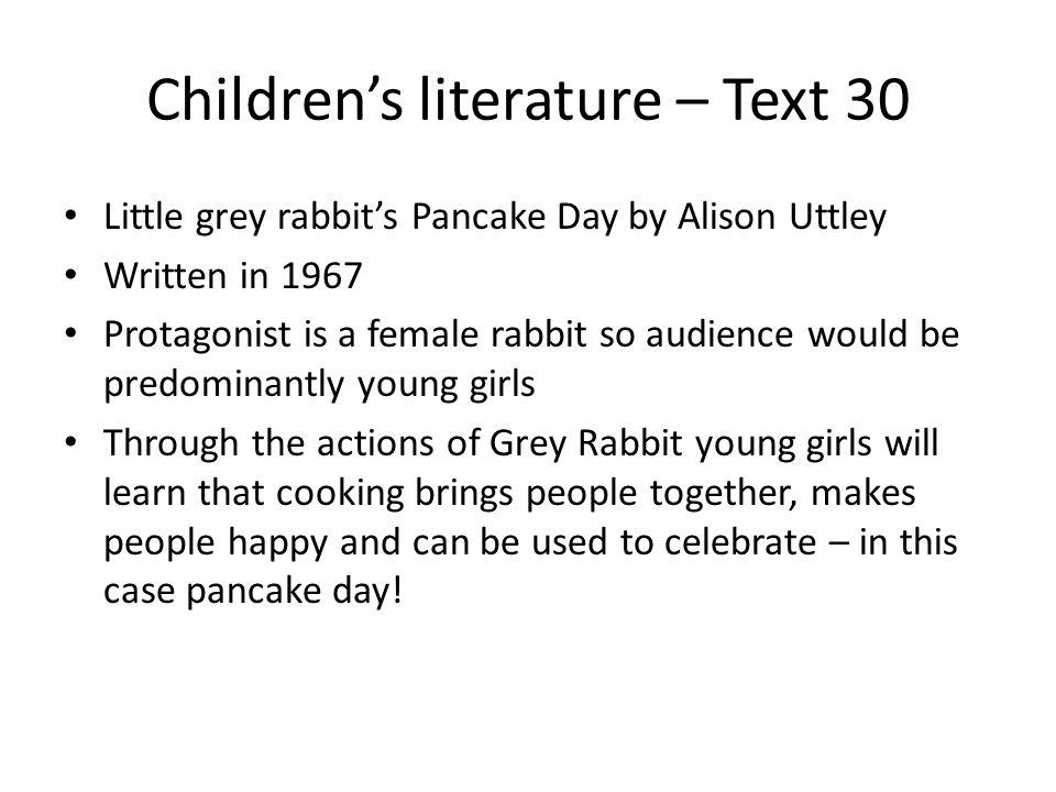Children's literature – Text 30