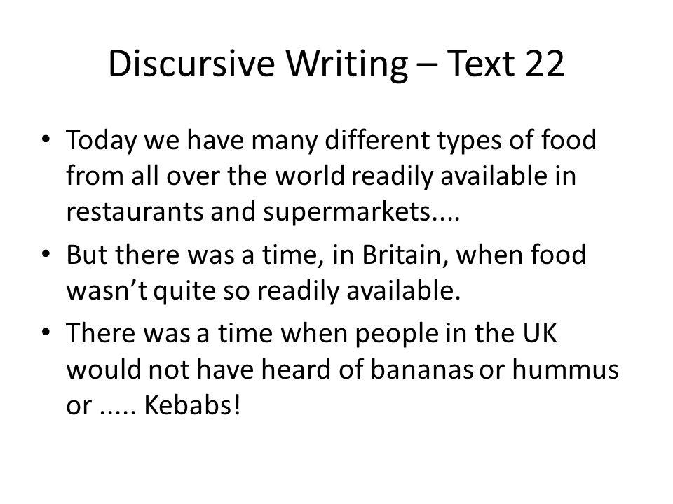 Discursive Writing – Text 22