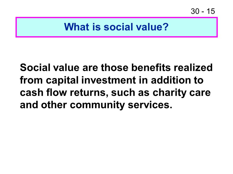 What is social value