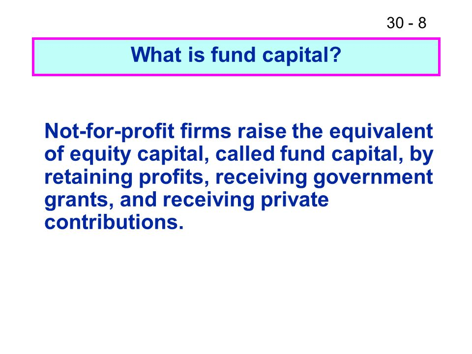 What is fund capital