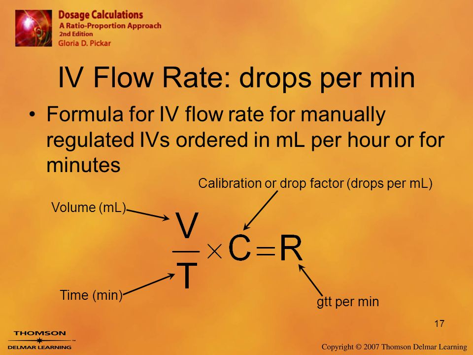 IV Flow Rate: drops per min