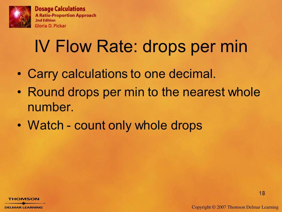 IV Flow Rate: drops per min