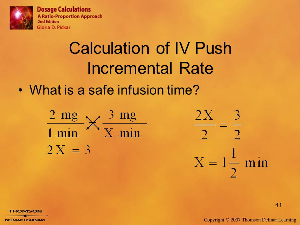 Calculation of IV Push Incremental Rate