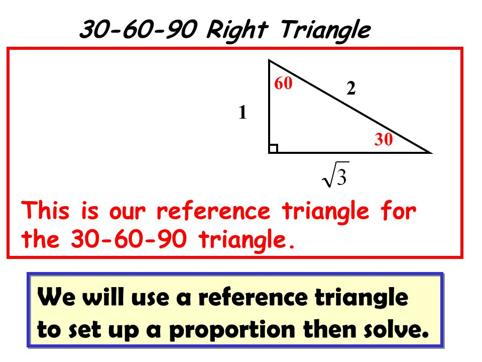 We will use a reference triangle to set up a proportion then solve.