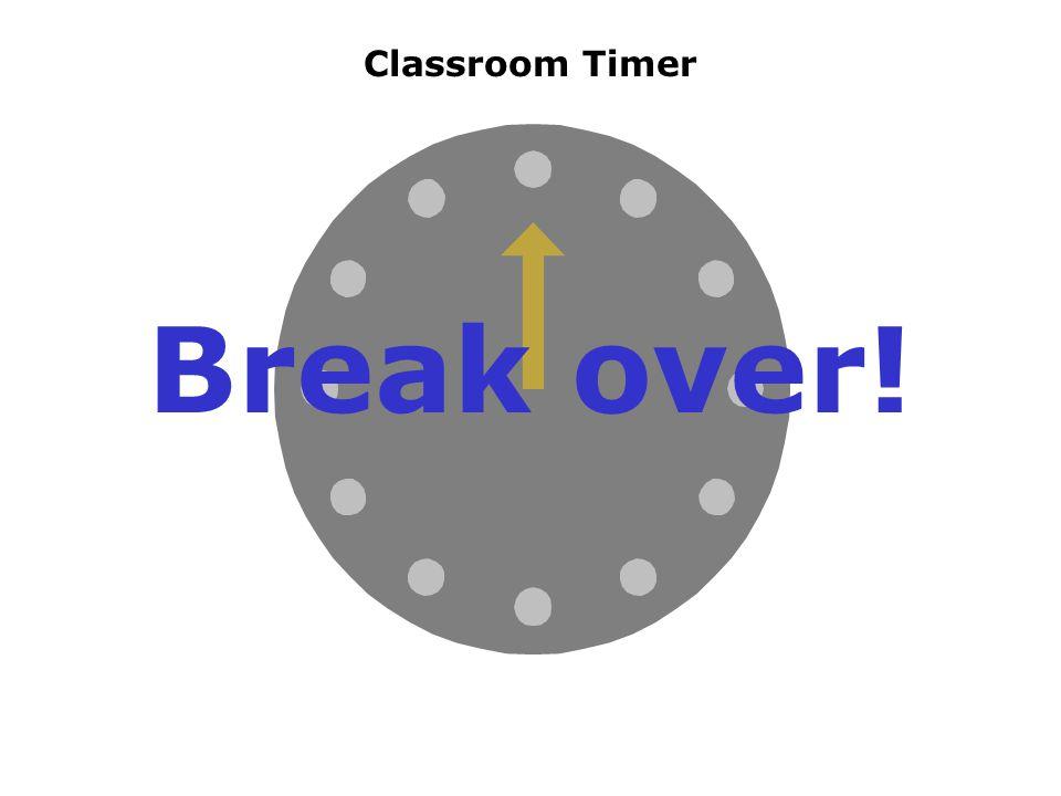 Classroom Timer Break over!