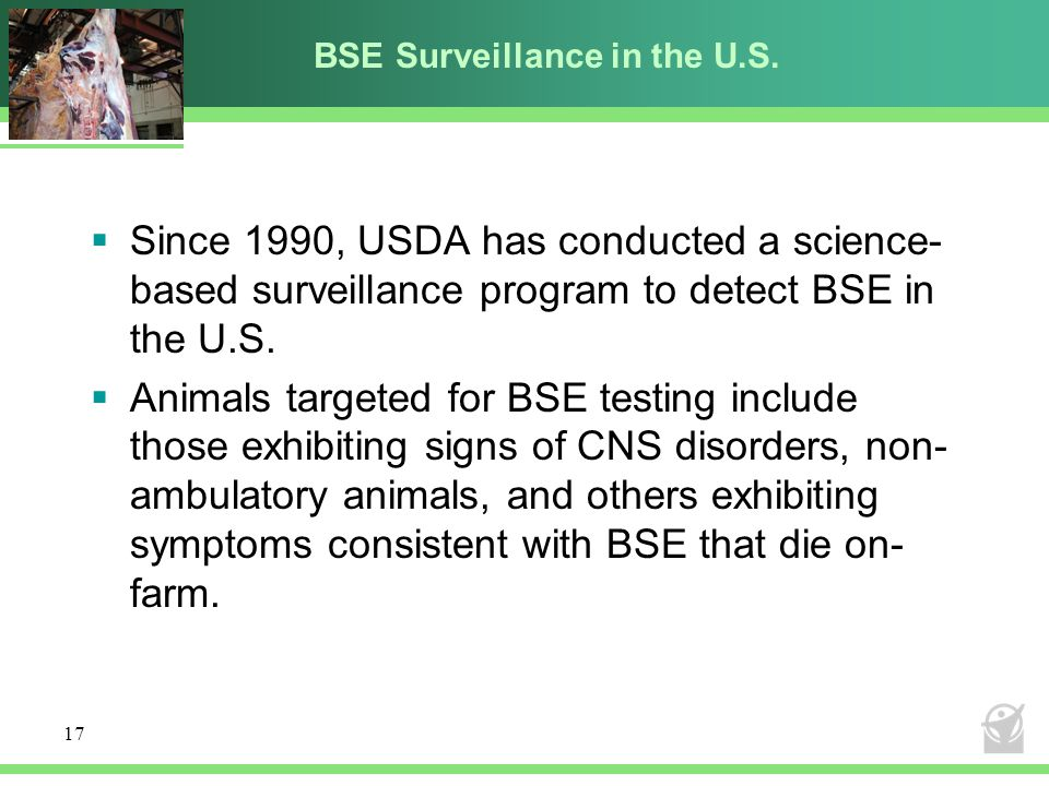 BSE Surveillance in the U.S.