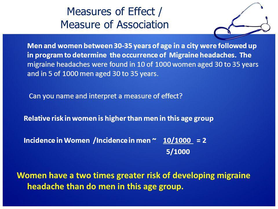 Measures of Effect / Measure of Association