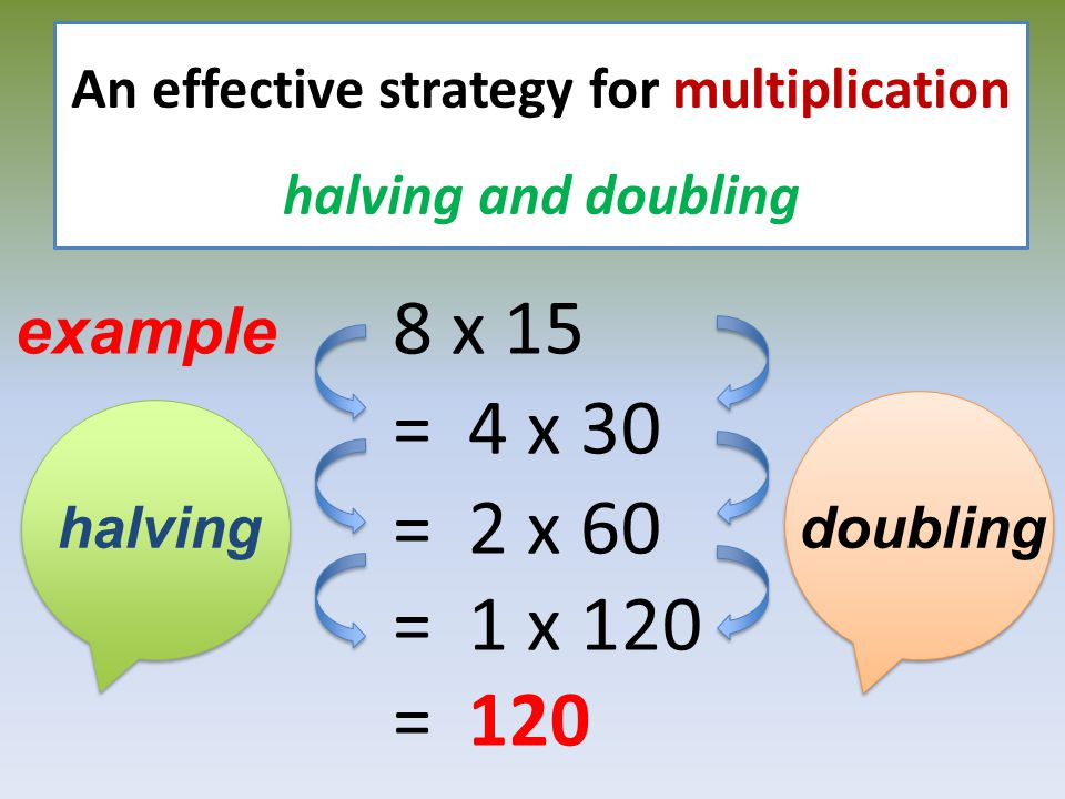 An effective strategy for multiplication