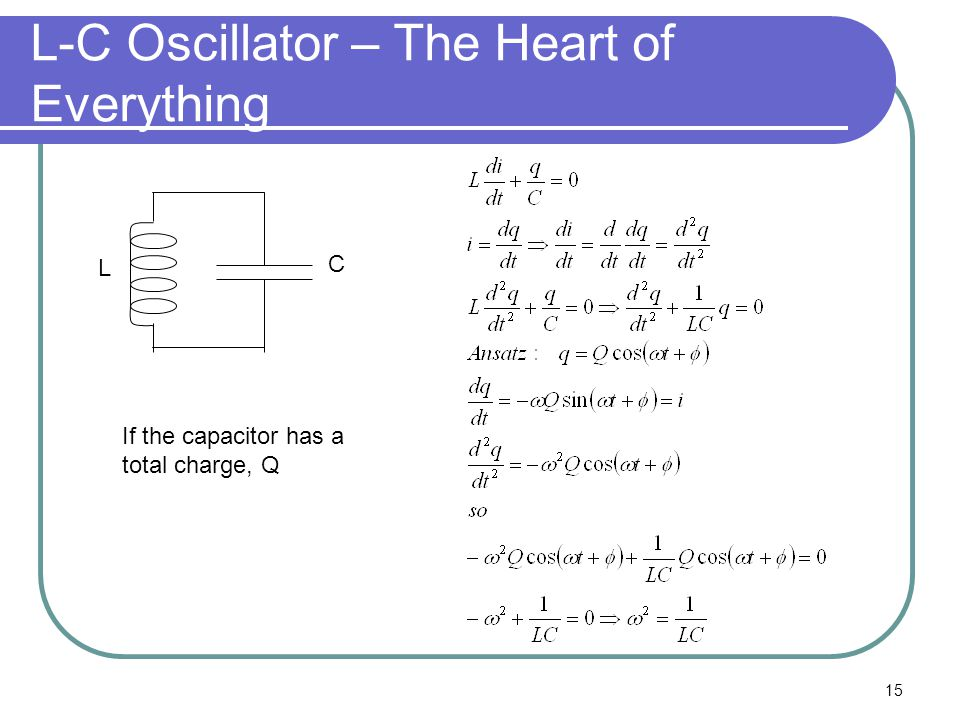 L-C Oscillator – The Heart of Everything