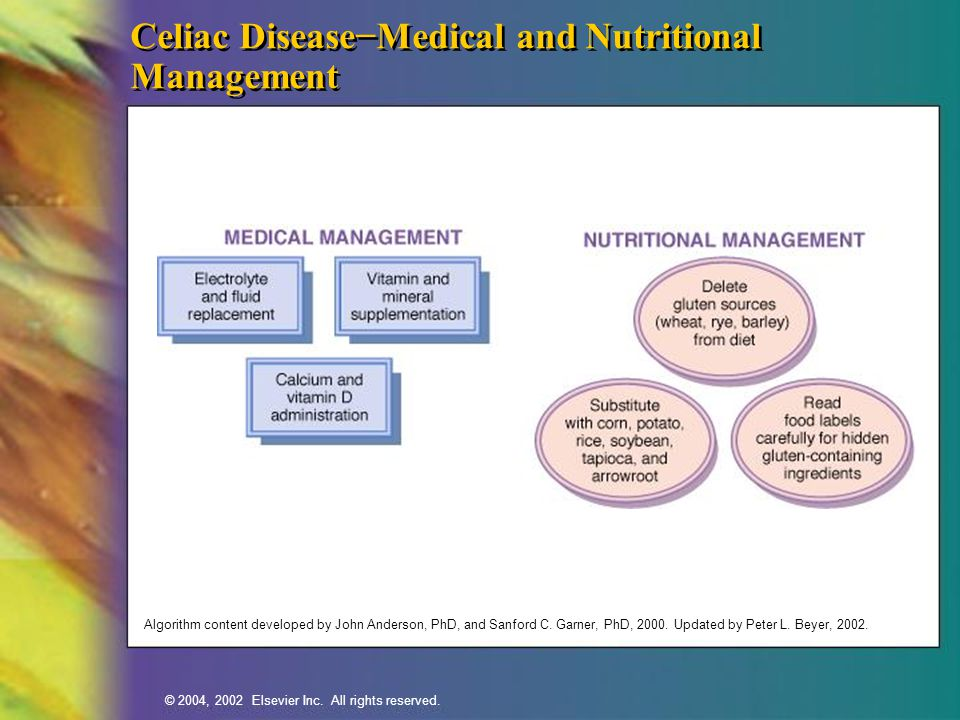 Celiac Disease−Medical and Nutritional Management