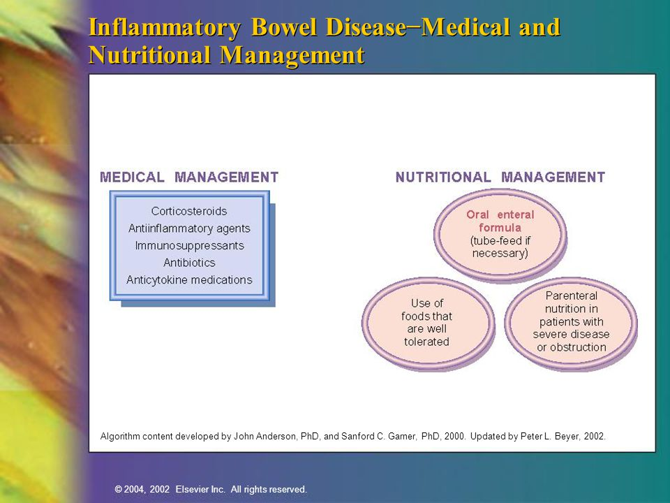 Inflammatory Bowel Disease−Medical and Nutritional Management