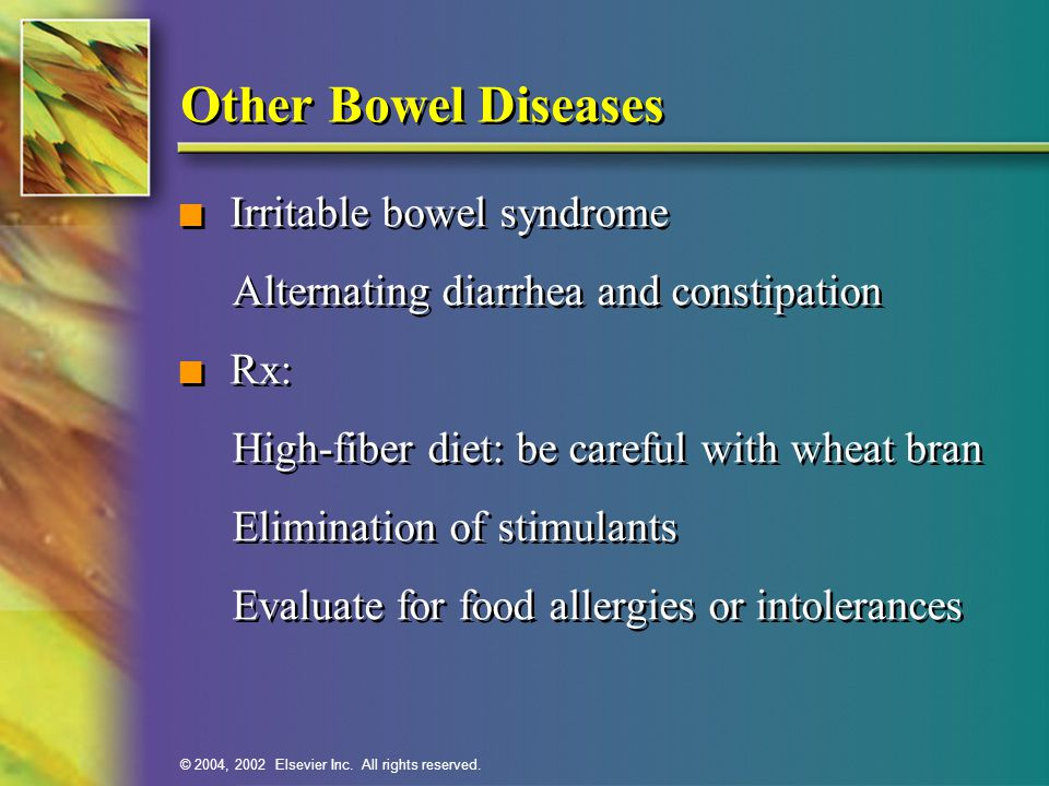 Other Bowel Diseases Irritable bowel syndrome