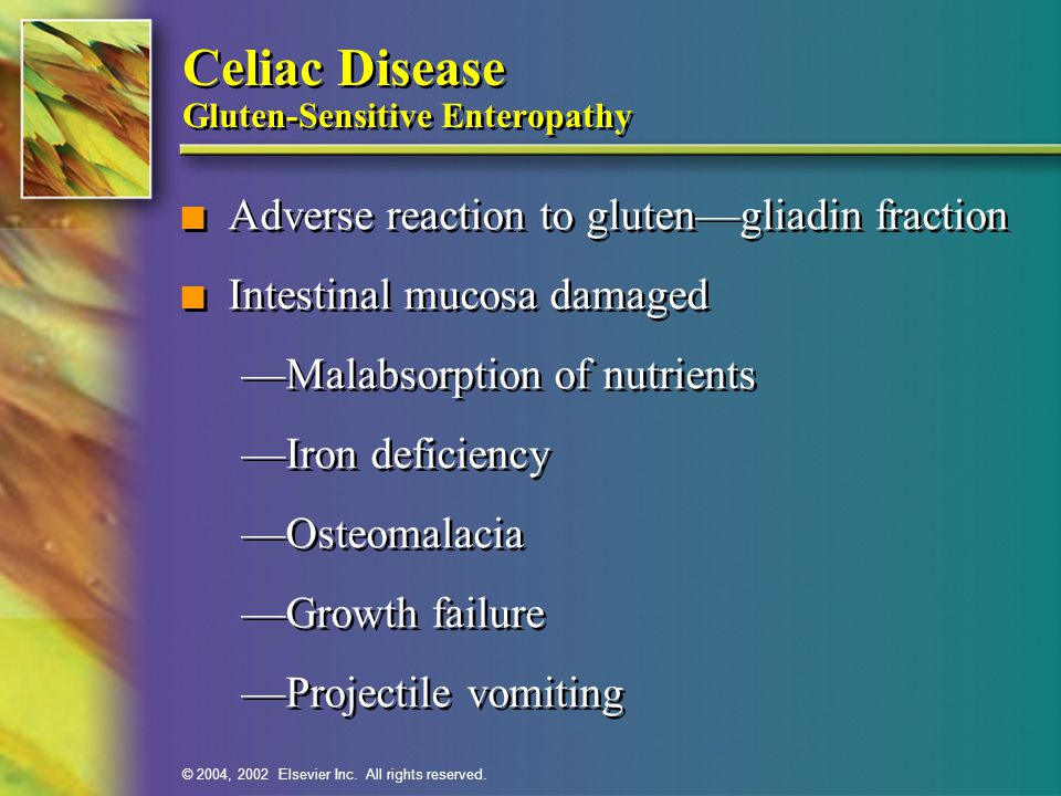 Celiac Disease Gluten-Sensitive Enteropathy