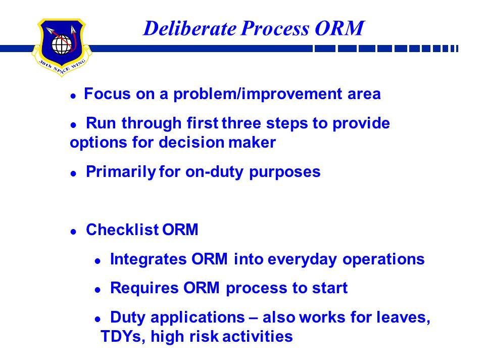 Deliberate Process ORM