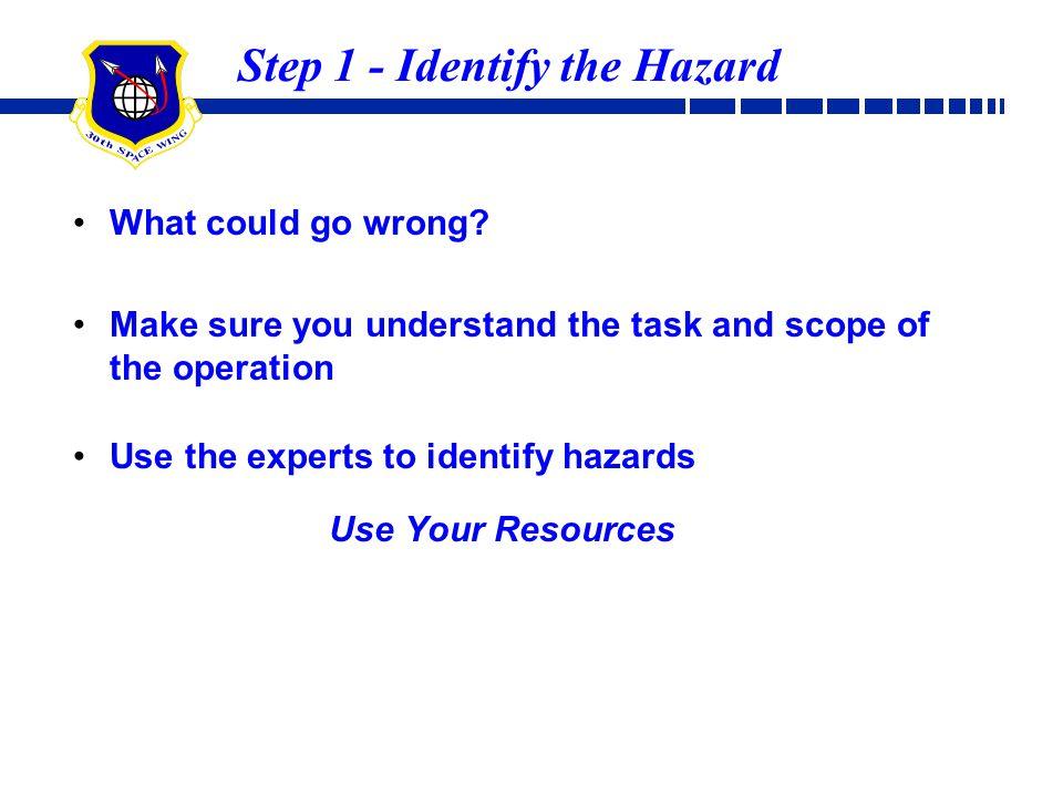 Step 1 - Identify the Hazard