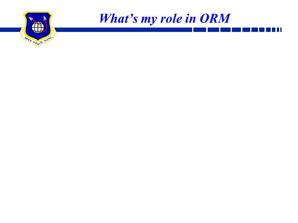 What's my role in ORM